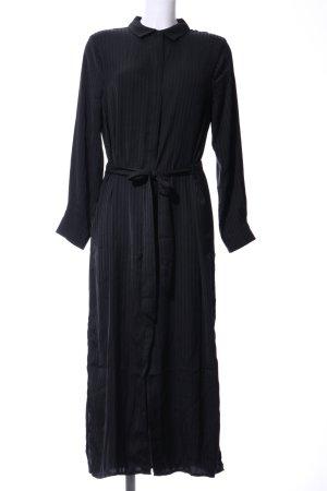 Mango Suit Vestido tipo blusón negro estampado a rayas estilo «business»