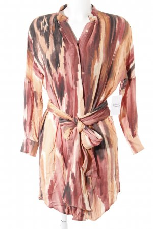Mango Suit Hemdblusenkleid abstraktes Muster Boho-Look