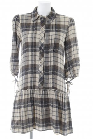 Mango Suit Shirtwaist dress check pattern casual look