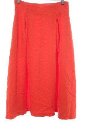 Mango Suit Jupe taille haute orange fluo