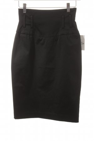 Mango Suit High Waist Rock schwarz Business-Look