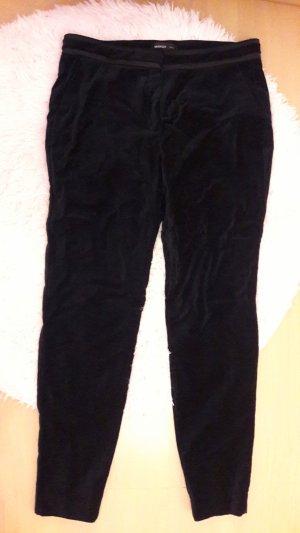 Mango Suit Hose Velvet Samt Dunkelblau 40