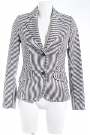 Mango Suit Denim Blazer cream-dark blue striped pattern casual look