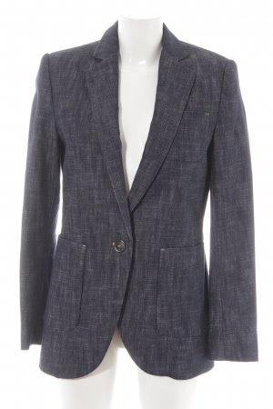 Mango Suit Denim Blazer dark blue-white flecked business style