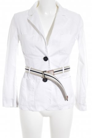 Mango Suit Denim Blazer white business style
