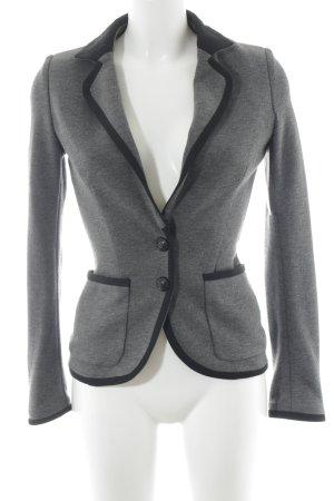 Mango Suit Jerseyblazer grau-schwarz meliert Business-Look