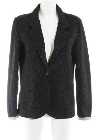 Mango Suit Jerseyblazer schwarz-hellgrau Zackenmuster Casual-Look