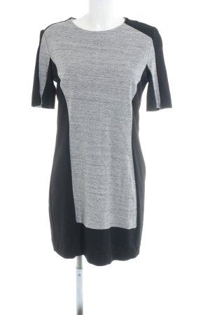 Mango Suit Jerseykleid schwarz-hellgrau Colourblocking Business-Look