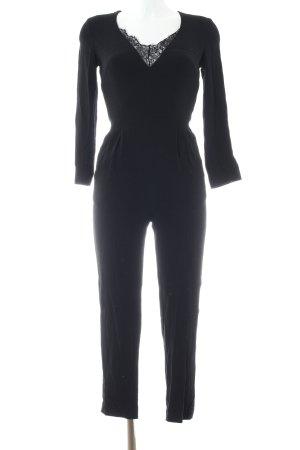Mango Suit Jumpsuit schwarz Business-Look