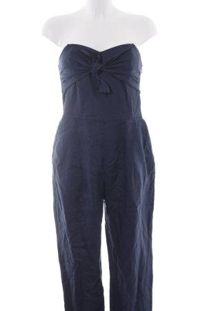 Mango Suit Tuta blu scuro stile stravagante