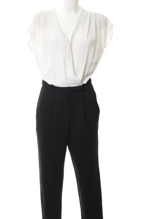 Mango Suit Tuta nero-beige chiaro elegante