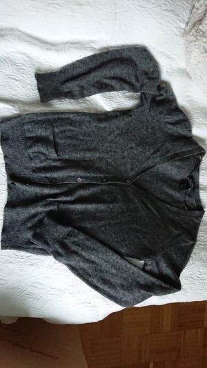 MANGO suit Kaschmircardigan anthrazit klassisch,edel und kuschelig weich
