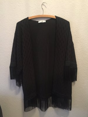 Mango Suit Kimono schwarz