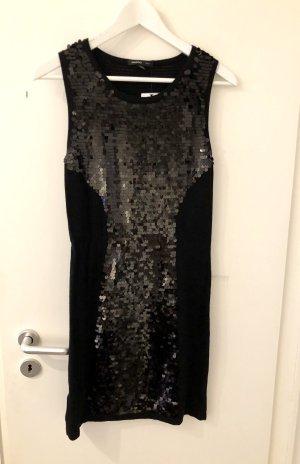 Mango Suit Kleid S 36 Neu mit Etikett schwarz Pailetten Party Mini