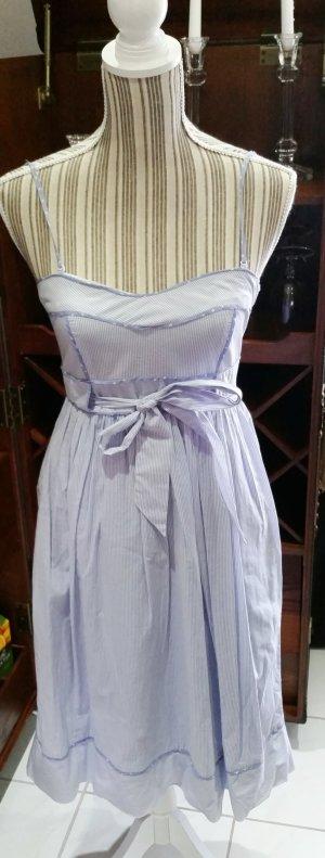 Mango Suit Kleid Sommerkleid blau weiß S 36