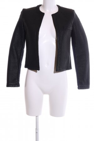 Mango Suit Kunstlederjacke schwarz Casual-Look