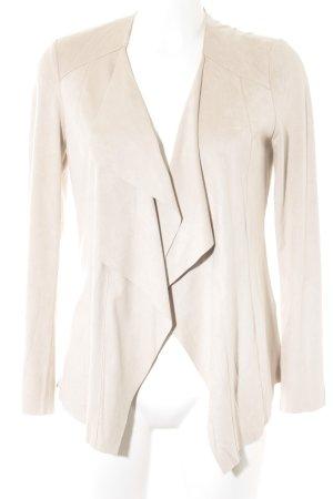 Mango Suit Jack van imitatieleder licht beige casual uitstraling
