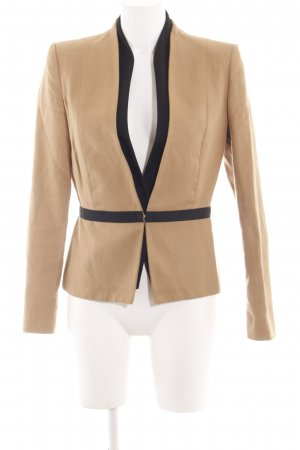 Mango Suit Kurz-Blazer wollweiß-schwarz Business-Look