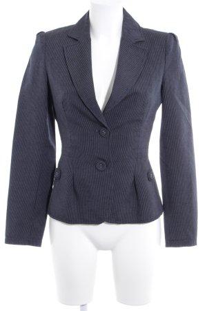 Mango Suit Kurz-Blazer dunkelblau-beige Nadelstreifen Business-Look