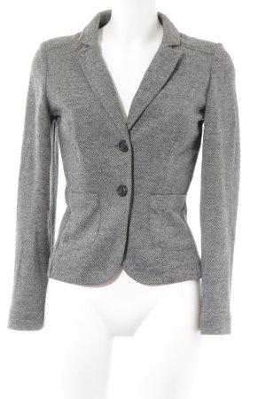 Mango Suit Kurz-Blazer hellgrau-schwarz Zackenmuster Business-Look