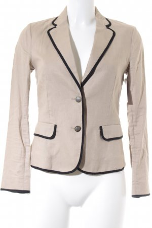 Mango Suit Kurz-Blazer schwarz-camel Business-Look