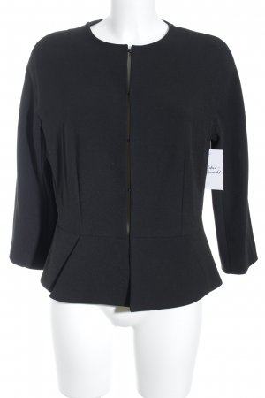 Mango Suit Kurz-Blazer schwarz Volantbesatz