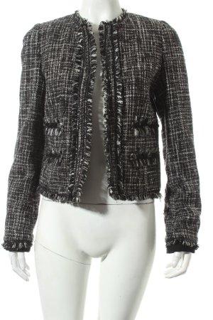 Mango Suit Kurz-Blazer schwarz-weiß Eleganz-Look