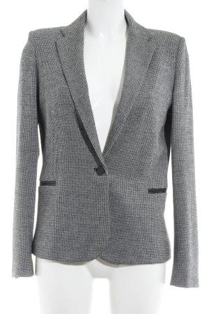 Mango Suit Kurz-Blazer schwarz-weiß Hahnentrittmuster Business-Look