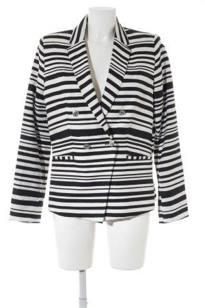Mango Suit Kurz-Blazer schwarz-wollweiß Streifenmuster extravaganter Stil