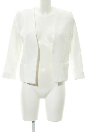 Mango Suit Short Blazer white business style