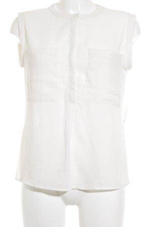Mango Suit Kurzarm-Bluse creme Elegant