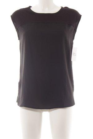 Mango Suit Kurzarm-Bluse schwarz schlichter Stil