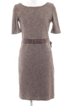 Mango Suit Kurzarmkleid braun meliert schlichter Stil