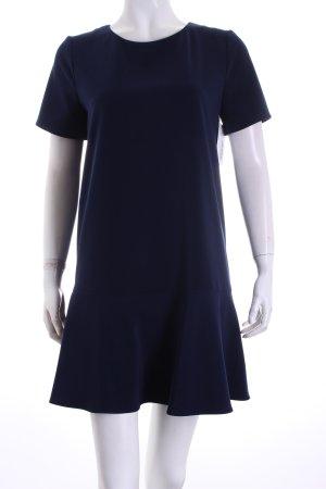 Mango Suit Kurzarmkleid dunkelblau Romantik-Look