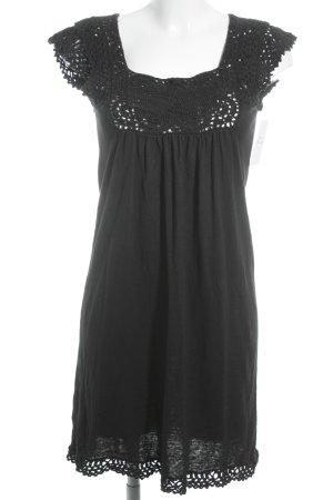 Mango Suit Kurzarmkleid schwarz schlichter Stil