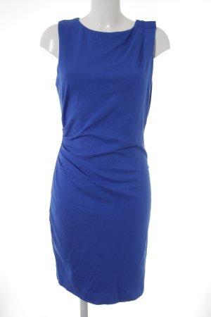 Mango Suit Kurzarmkleid stahlblau extravaganter Stil
