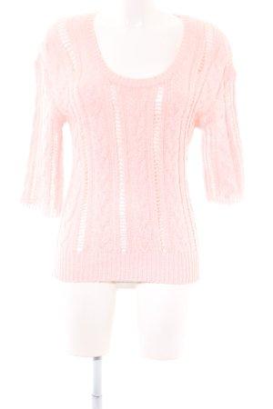 Mango Suit Sweater met korte mouwen roze casual uitstraling
