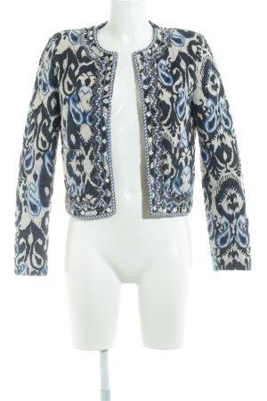 Mango Suit Kurzjacke abstraktes Muster extravaganter Stil