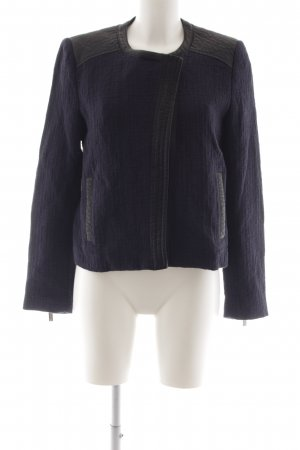 Mango Suit Kurzjacke dunkelblau-schwarz Casual-Look