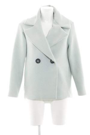 Mango Suit Abrigo corto gris claro elegante