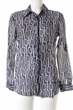 Mango Suit Langarm-Bluse abstraktes Muster extravaganter Stil