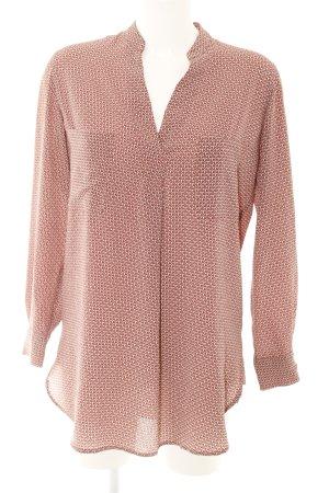 Mango Suit Langarm-Bluse abstraktes Muster
