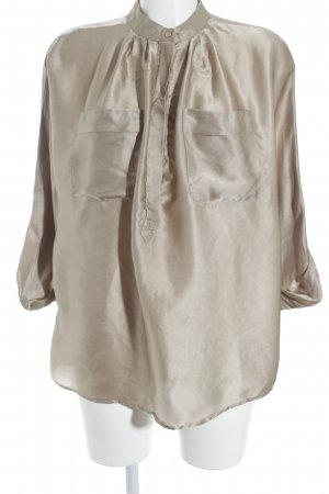 Mango Suit Langarm-Bluse beige Street-Fashion-Look