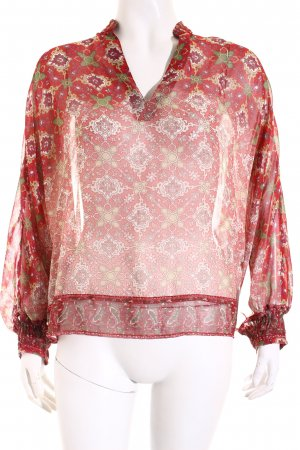 Mango Suit Langarm-Bluse florales Muster Elegant
