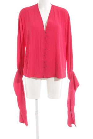 Mango Suit Langarm-Bluse magenta Elegant