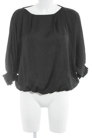 Mango Suit Langarm-Bluse schwarz Elegant