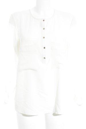 Mango Suit Langarm-Bluse wollweiß Elegant