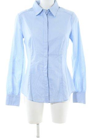 Mango Suit Langarmhemd blau-weiß Streifenmuster Business-Look