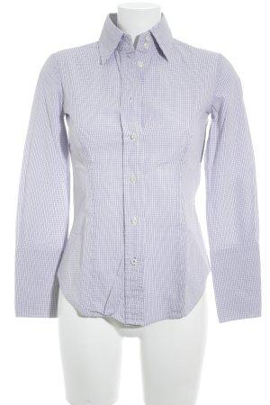 Mango Suit Shirt met lange mouwen wit-paars geruite print casual uitstraling