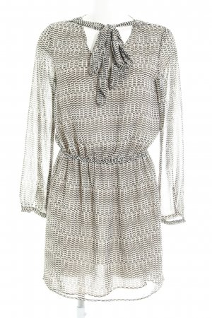 Mango Suit Langarmkleid abstraktes Muster Casual-Look